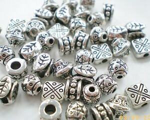 90-x-Mixed-Large-Tibetan-Silver-Lead-Free-Beads-50g