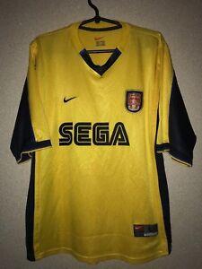 ARSENAL THE GUNNERS away Shirt jersey NIKE 1999-2001 SEGA trikot ... cb6318ab2