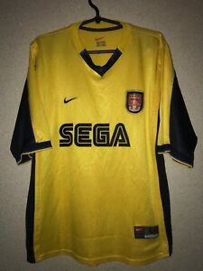 ARSENAL THE GUNNERS away Shirt jersey NIKE 1999-2001 SEGA trikot ... c73915d95