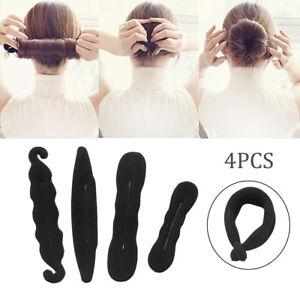 4x-Femme-Fille-Cheveux-Chignon-Coiffure-Bun-Donut-Twist-Outil-BM