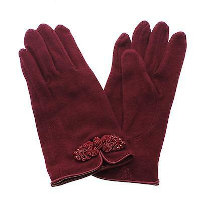 New Women Lady Casual Graceful Winter Warm Chinese Knot Cashmere Gloves Mittens