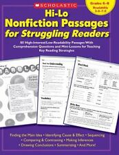 Teaching Resources: Hi-Lo Nonfiction Passages for Struggling Readers : 80 High-Interest/Low-Readability Passages with Comprehension Questions and Mini-Lessons for Teaching Key Reading Strategies by Teaching Resources Staff (2007, Paperback)
