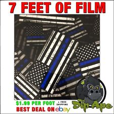 Hydrographic Film Blue Line Flags Police Hydro Dip Dipping 7 X 20 Dip Ape