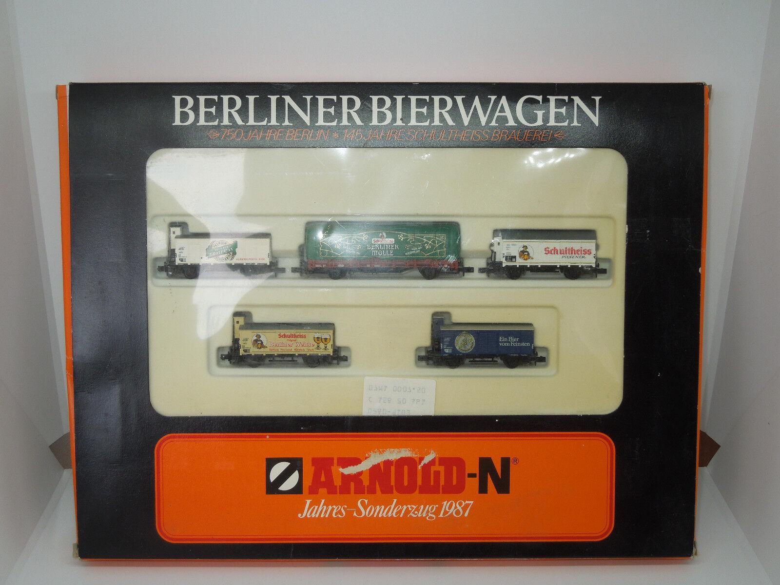 Arnold Spur N 0156 Wagenset Berliner CARRO BIRRA - 5 pezzi