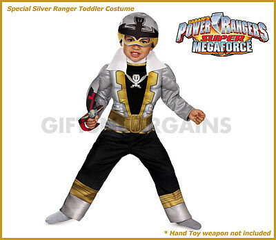 power rangers special silver super megaforce boys muscle costume toddler s 2 3y ebay ebay