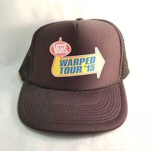 9d7d11ff51d20 Vans Warped Tour 2015 Punk Rock Music Festival Cap Hat Trucker Mesh ...