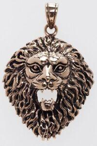 Begeistert Lion Löwe Anhänger Bronze Gothic Schmuck - Neu Ein Unbestimmt Neues Erscheinungsbild GewäHrleisten