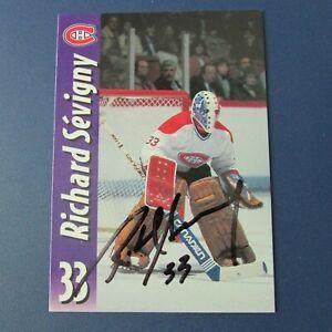 RICHARD-SEVIGNY-Montreal-Canadiens-Molson-Export-SIGNED-AUTO-Quebec-Nordiques