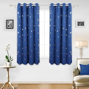 Details about Thermal Insulated Blackout Curtains Childrens Bedroom  Curtains New