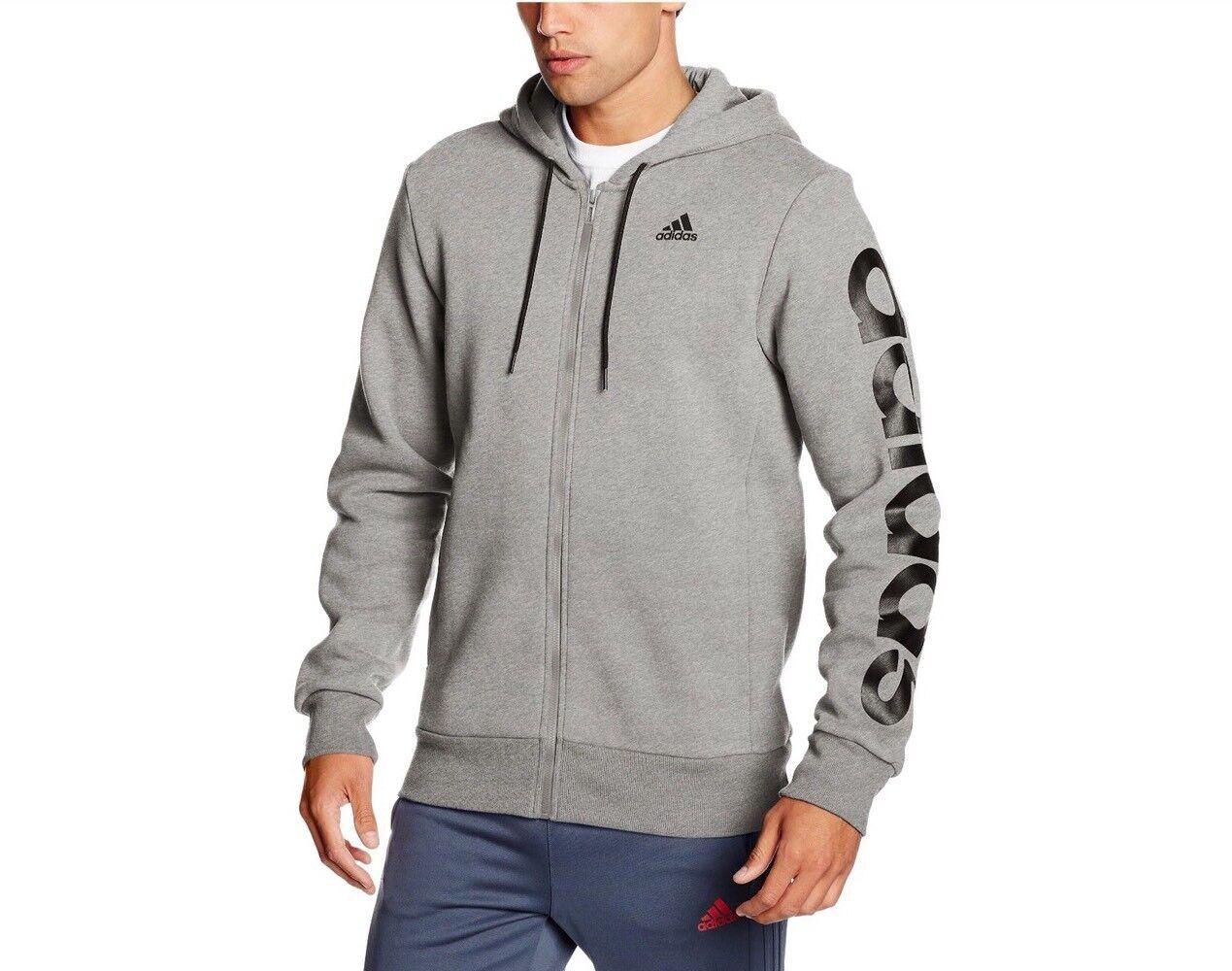 Veste à capuche complète adidas Hommes Sport Essential Linear à capuchon complet BNWT B49908