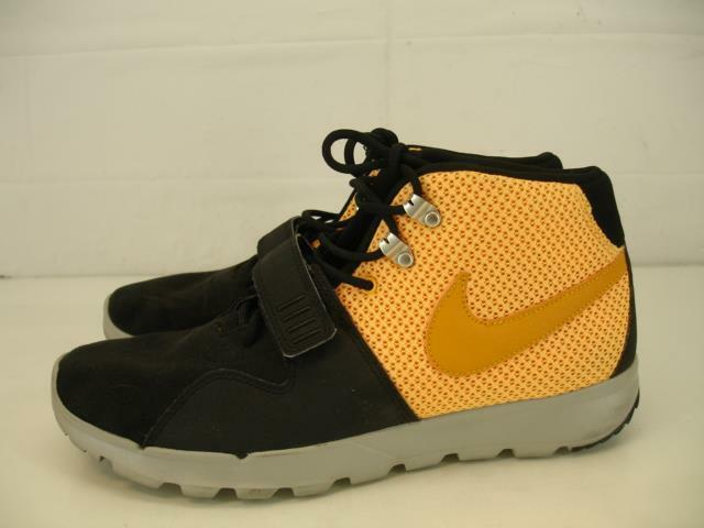 Mens sz 10.5 Nike ACG Trainerendor Mid Black Canyon gold Laser orange 616578-078