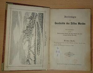 Selten-Beitraege-zur-Geschichte-des-Stiftes-Werden-1-Heft-1891-bei-Essen-Ruhr