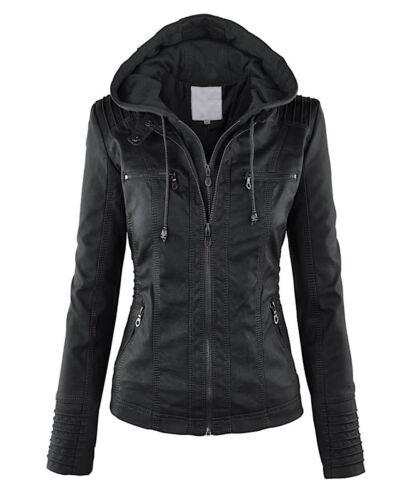 Pu Jac0022 Artificiel P Femme Veste Jacket Cuir Leather Woman qaUvv6w