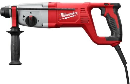 MILWAUKEE Rotary Hammer Drill 1 in SDS D-Handle Depth Rod Side Handle Case