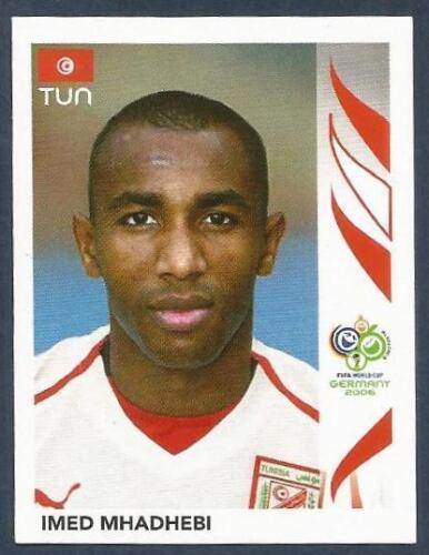 PANINI FIFA WORLD CUP-GERMANY 2006 #585-TUNISIA-IMED MHADHEBI