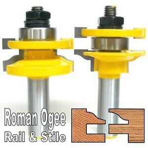 2pc-1-2-034-Shank-Roman-Ogee-Rail-and-Stile-Router-Bit-Set-S