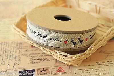 Korean Zakka Cotton 100/% Fabric Label Handmade Sewing 1y 2.5cm YH05 laceking