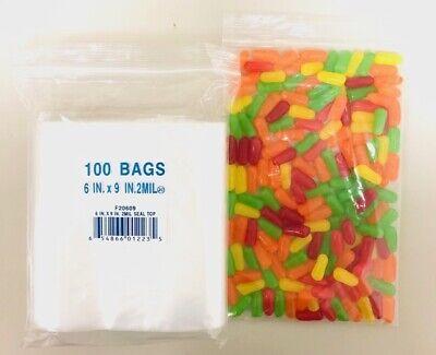 "100 6x9CM/"" ZIP LOCK Clear 2MIL Poly BAG RECLOSABLE  Plastic Small Baggies Fa/_wp"