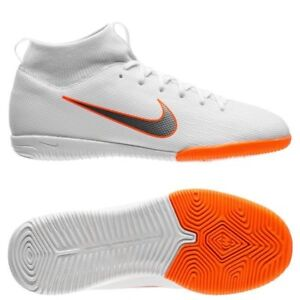 official photos 8653c ece2b Details about Nike Mercurial SuperflyX VI IC Indoor 2018 DF Aca Soccer  Shoes Kids Youth White
