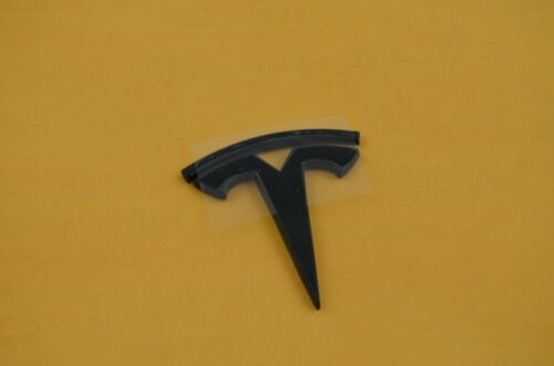 NEW TESLA Metal Emblem Sticker BLACK//RED  Model X S 3