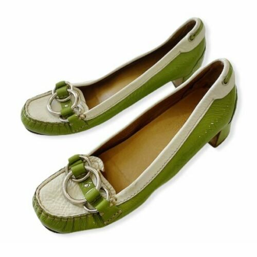 Car Shoe Patent heeled loafers, size 38.5