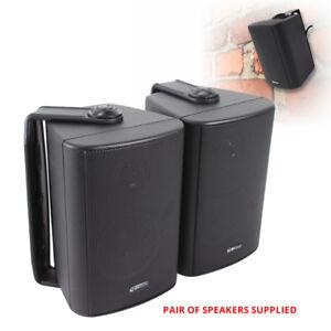 Pair-BC3B-3-034-Inch-Black-Wall-Mount-Speakers-Hi-Fi-Surround-Sound-Cinema-60W