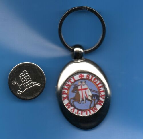 Knights Templar Round Fob Trolley Coin The Knights Templar Seal