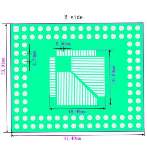 10pcs QFP//TQFP//LQFP//FQFP 32//44//64//80//100 to DIP Adapter PCB Board Converter