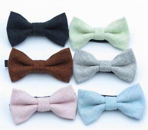 Boys-Kids-Children-Party-Wool-Wedding-Formal-Function-bow-tie-Necktie-bowtie