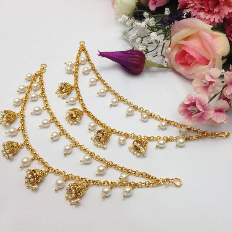 Pakistani Earring Holder Chain For Heavy Earrings Polki Sahara Sahar Chediya