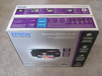 New Epson Expression Premium XP-610 Wireless Color Inkjet All-in-One Printer