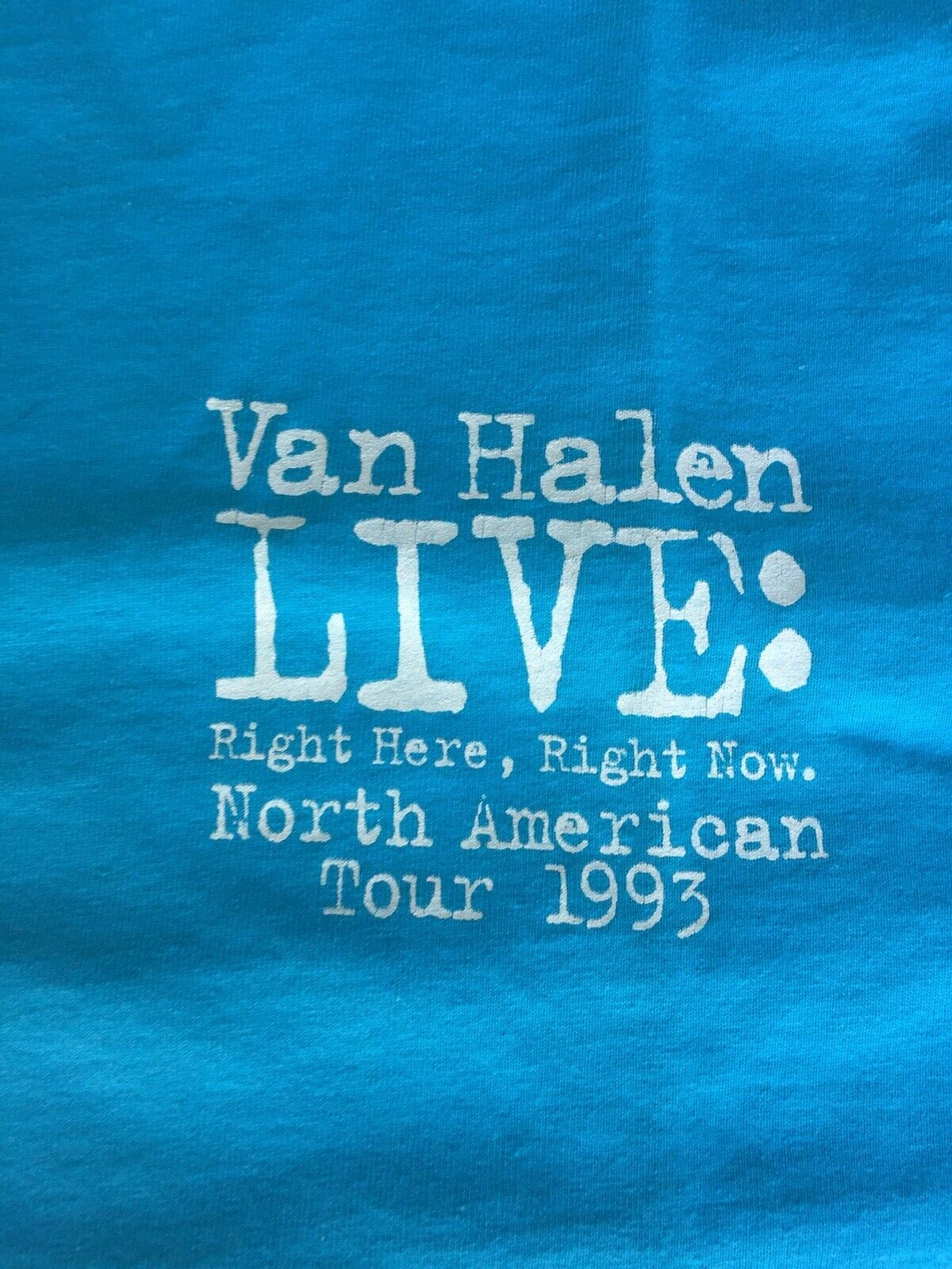 VAN HALEN Live Right Here Right Now 1993 Super RARE Vintage XL BEST T Shirt