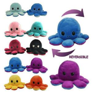 Peluche Reversibile Cambia Umore Octopus Polipo Double Face Arrabbiato Felice
