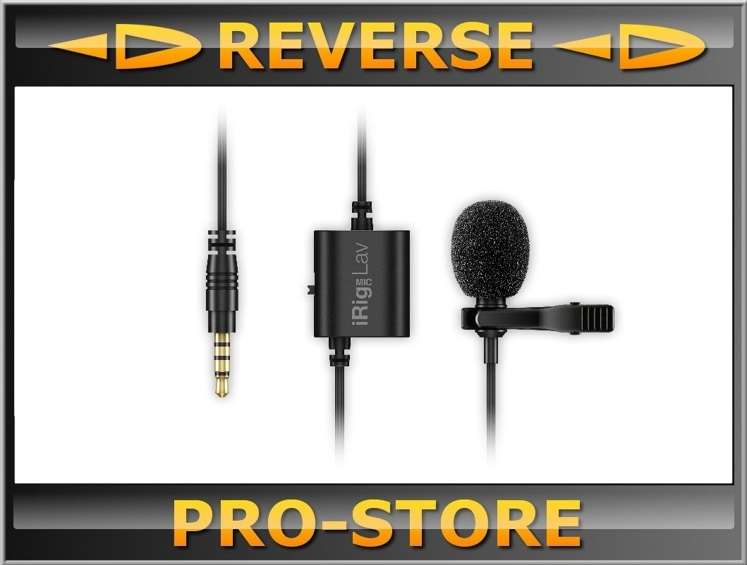 IK Multimedia iRig Mic Lav Elektret Kondensatormikrofon Microphone Mikrofon