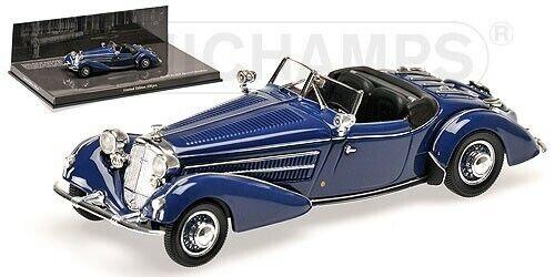 Minichamps Horch 855 Special-Roadster 1938 (mörkblått) 1 43 43604207