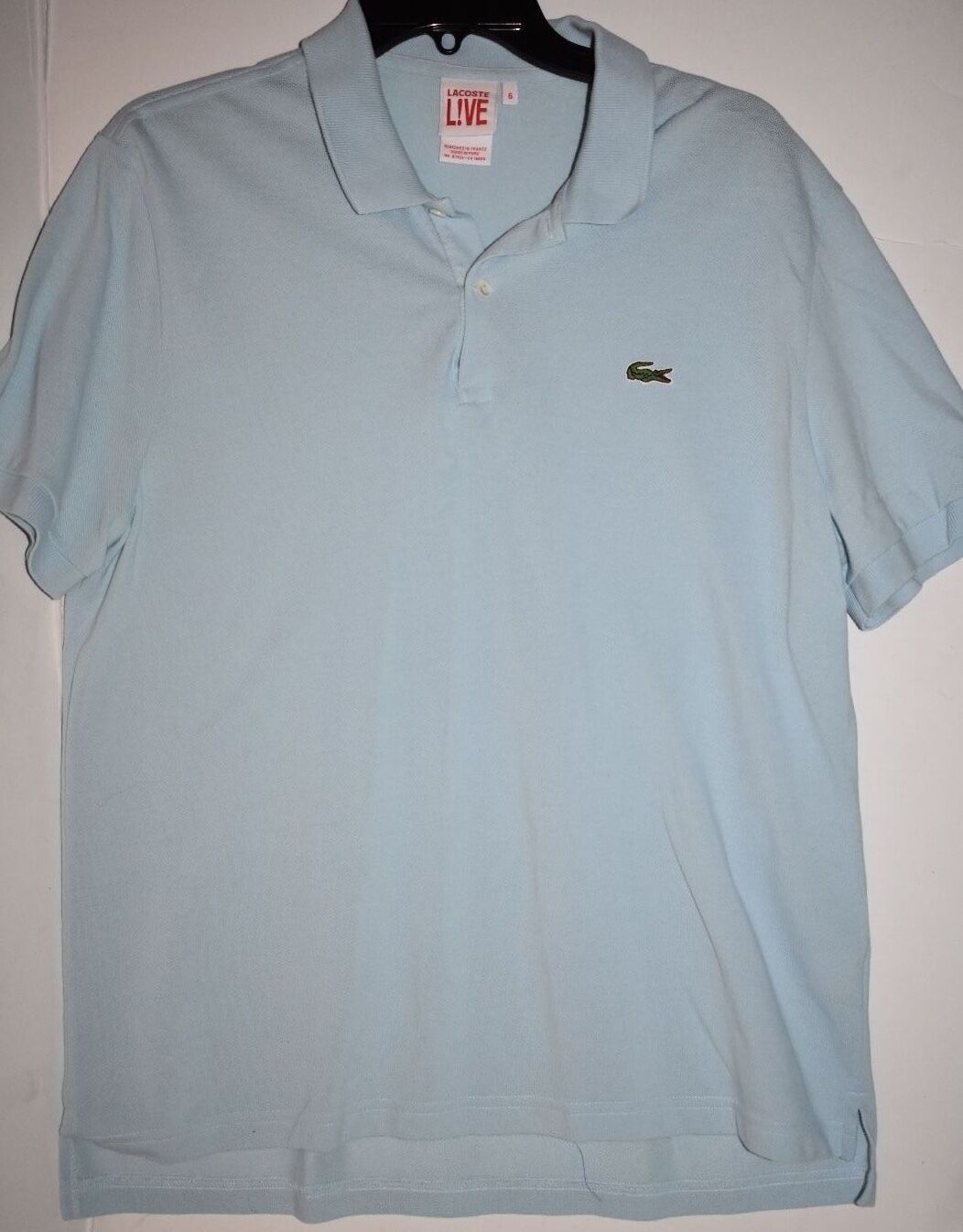 8c5a0180a1 LACOSTE LIVE Men's Polo Shirt Size 6 Large bluee nzyhjf6393-Casual ...