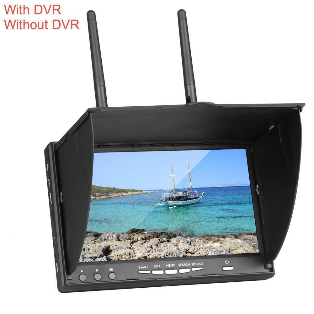 HD DVR 40CH 7  pollici 5.8Ghz FPV Monitor con doppio ricevitore e costruire-in batteria BT  spedizione e scambi gratuiti.