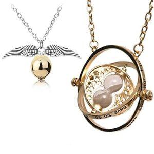 Collana-HARRY-POTTER-GIRATEMPO-Boccino-D-oro-Hogwarts-Hermione-Quidditch