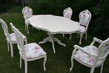 Absolutely Gorgeous Shabby Chic Table and 6 Chairs - customization available!