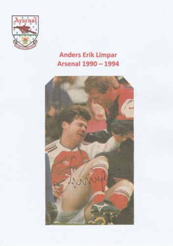 ANDERS LIMPAR ARSENAL 19901994 ORIGINAL HAND SIGNED MAGAZINE CUTTING