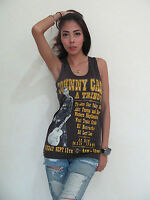 Johnny Cash A TRIBUTE Rock Punk T-Shirt Tank Top Vest Women's Black Size S,M,L