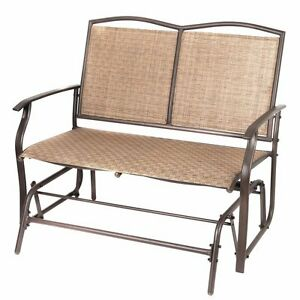 Image Is Loading Patio Swing Glider Bench Chair Garden Glider Rocking