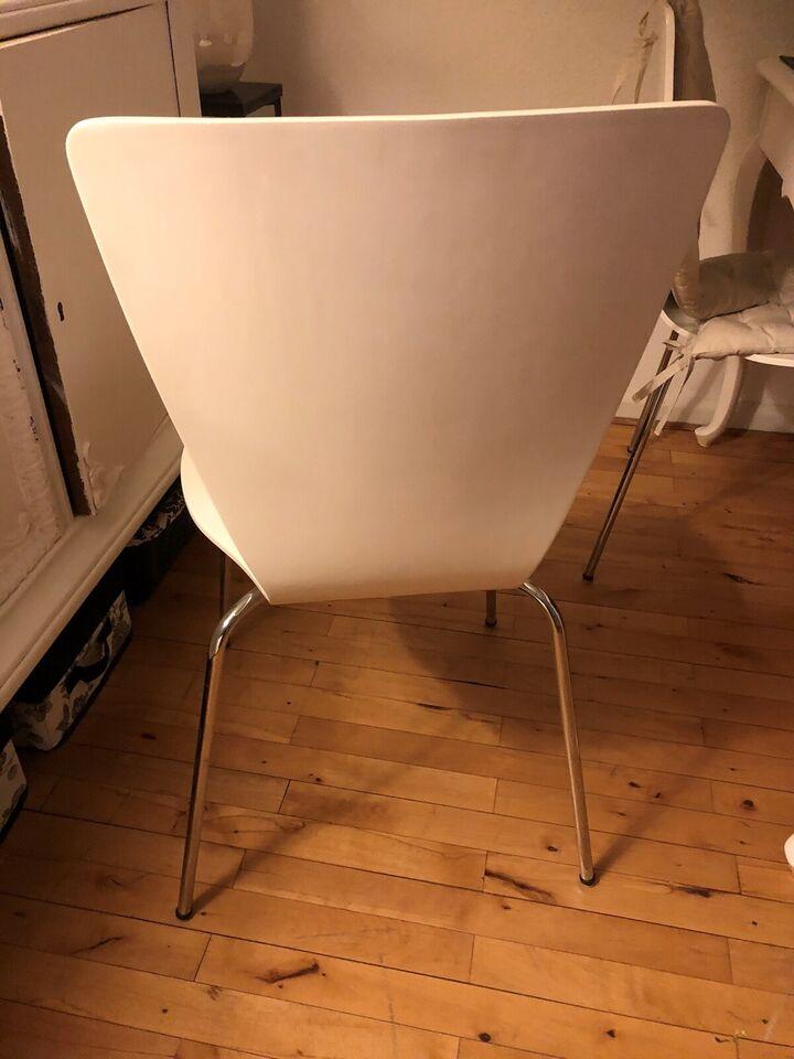 Spisebordsstol, Træ med metal ben
