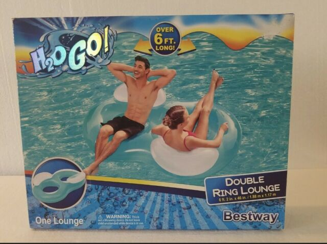 H2OGO Double Ring Inflatable Pool Float