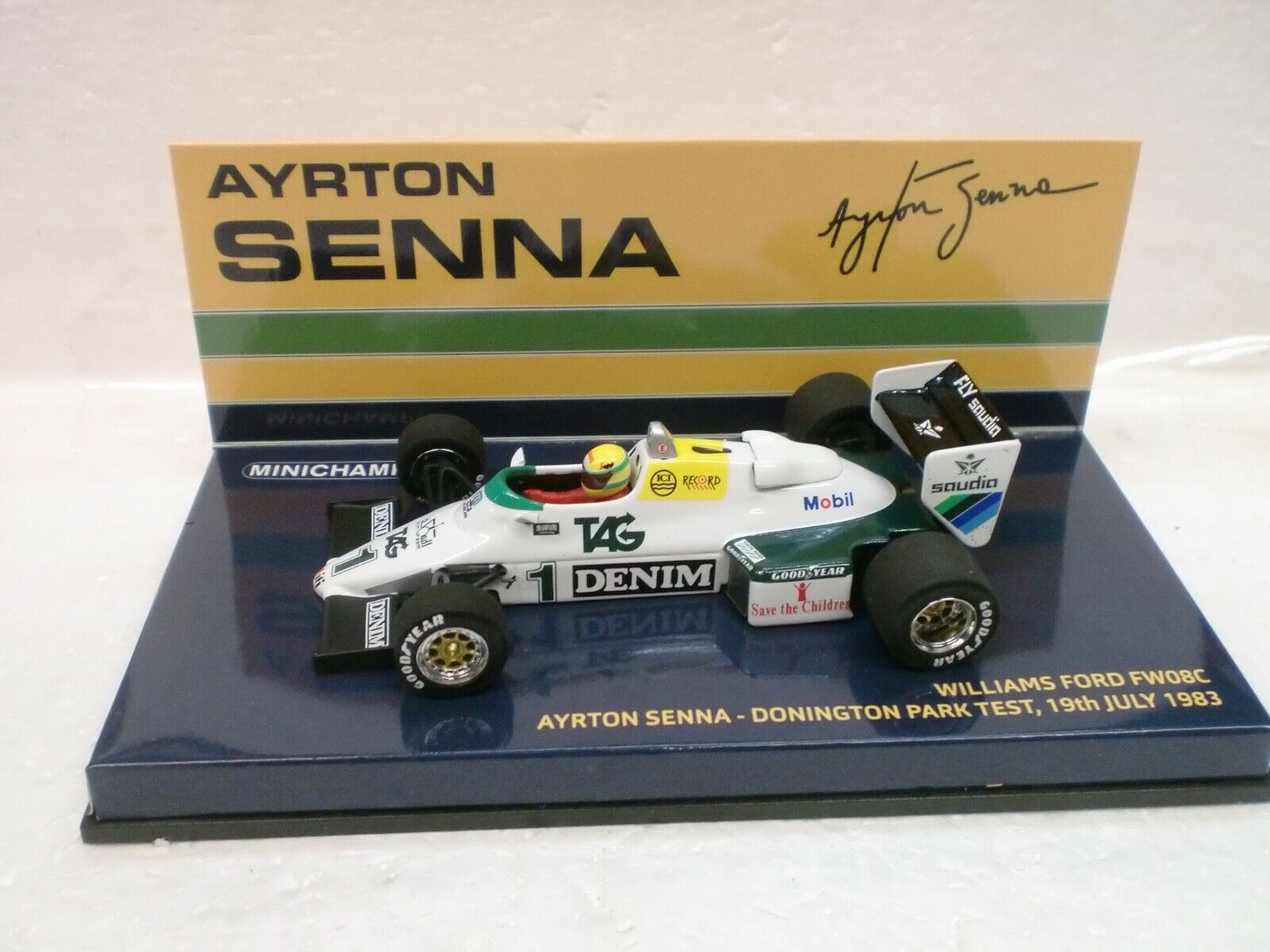 MINICHAMPS 1 43 - WILLIAMS FORD FW08C AYRTON SENNA 1983 - 540 834301