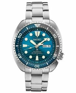 New-Seiko-Prospex-Turtle-Save-The-Ocean-Blue-Dial-45mm-Case-Watch-SRPD21