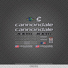 0633 Silver Cannondale Jekyll 1000 Bicycle Stickers - Decals - Transfers