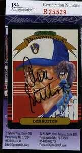 Don-Sutton-1985-Donruss-Diamond-Kings-Jsa-Coa-Signed-Authentic-Autographed