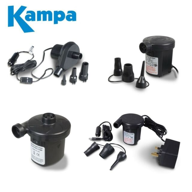 Kampa 240v 12v Twister Two Way Quick Camping Airbed Inflator PU0110