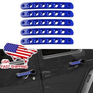 5×for JEEP Wrangler JK 4-Door 07-16 Door Handle Exterior Push Button Cover Trim